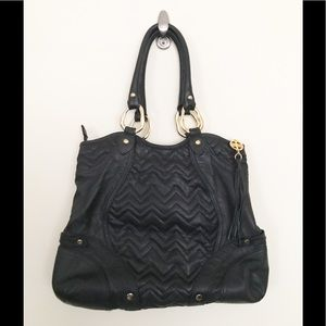 Via Spiga Quilted Chevron Leather Purse Bag
